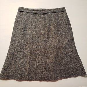 Apt 9 A Line Multicolor Tweed Zip Button Skirt 6